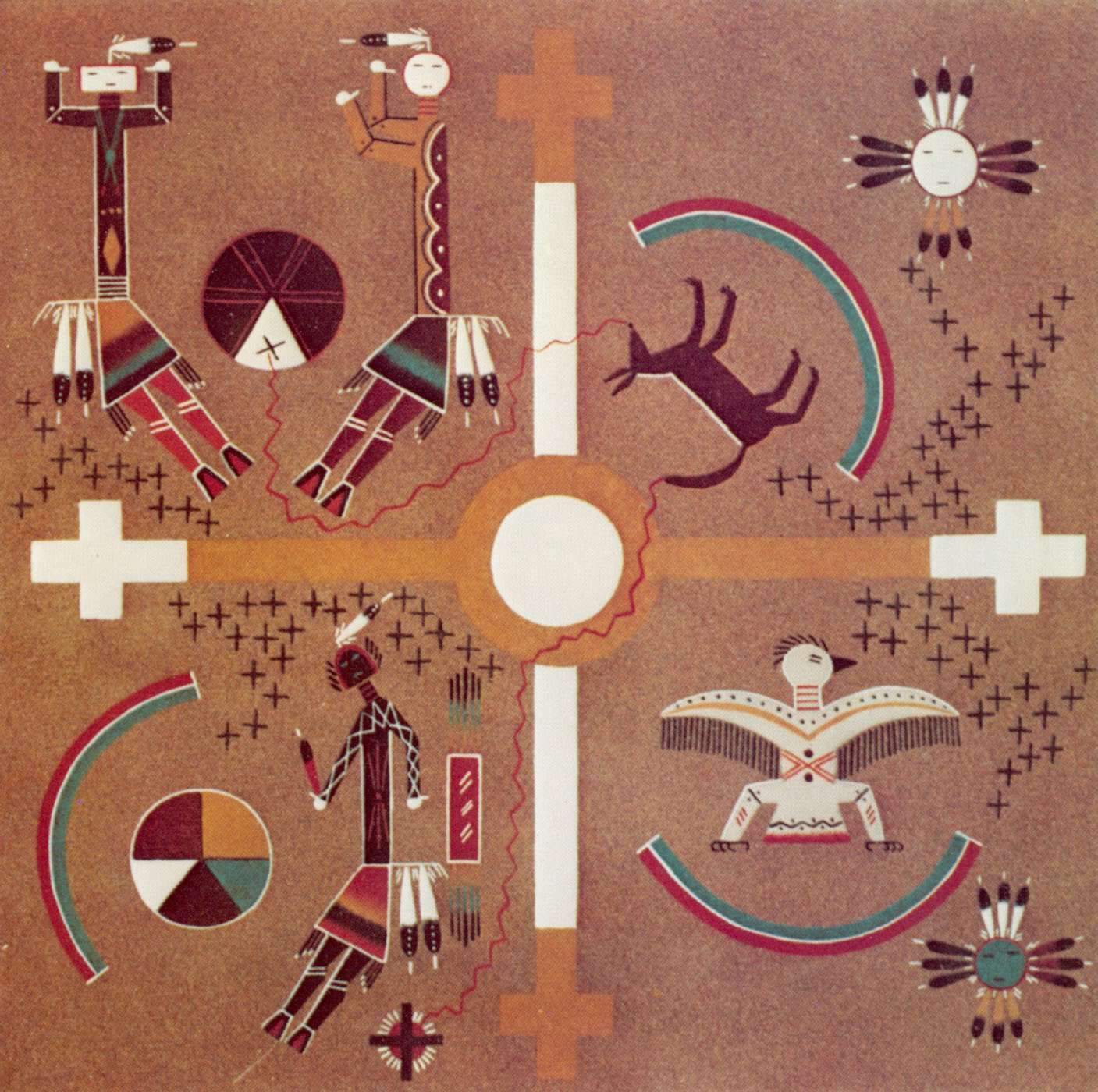 Man in the Maze: THE SACRED ART OF NAVAJO SANDPAINTING