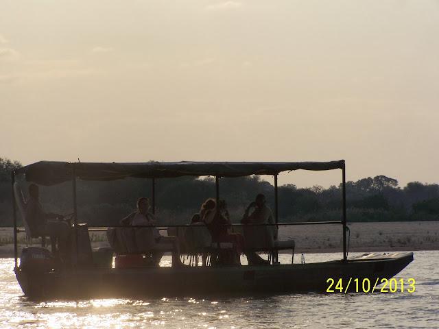 Boat Safari Rufiji-Selous Game reserve Tanzania