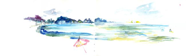 "Shiho Nakaza ""Rio de Janeiro"" Rio watercolor sketch sketching ""travel sketching"" beach Copacabana"
