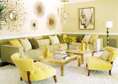 sala color amarillo