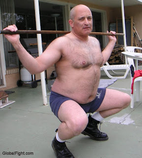 huge bald man - sexy dad - hairy dad