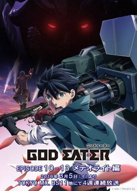 God Eater Episode 10 - 13 scheduled for March 2016