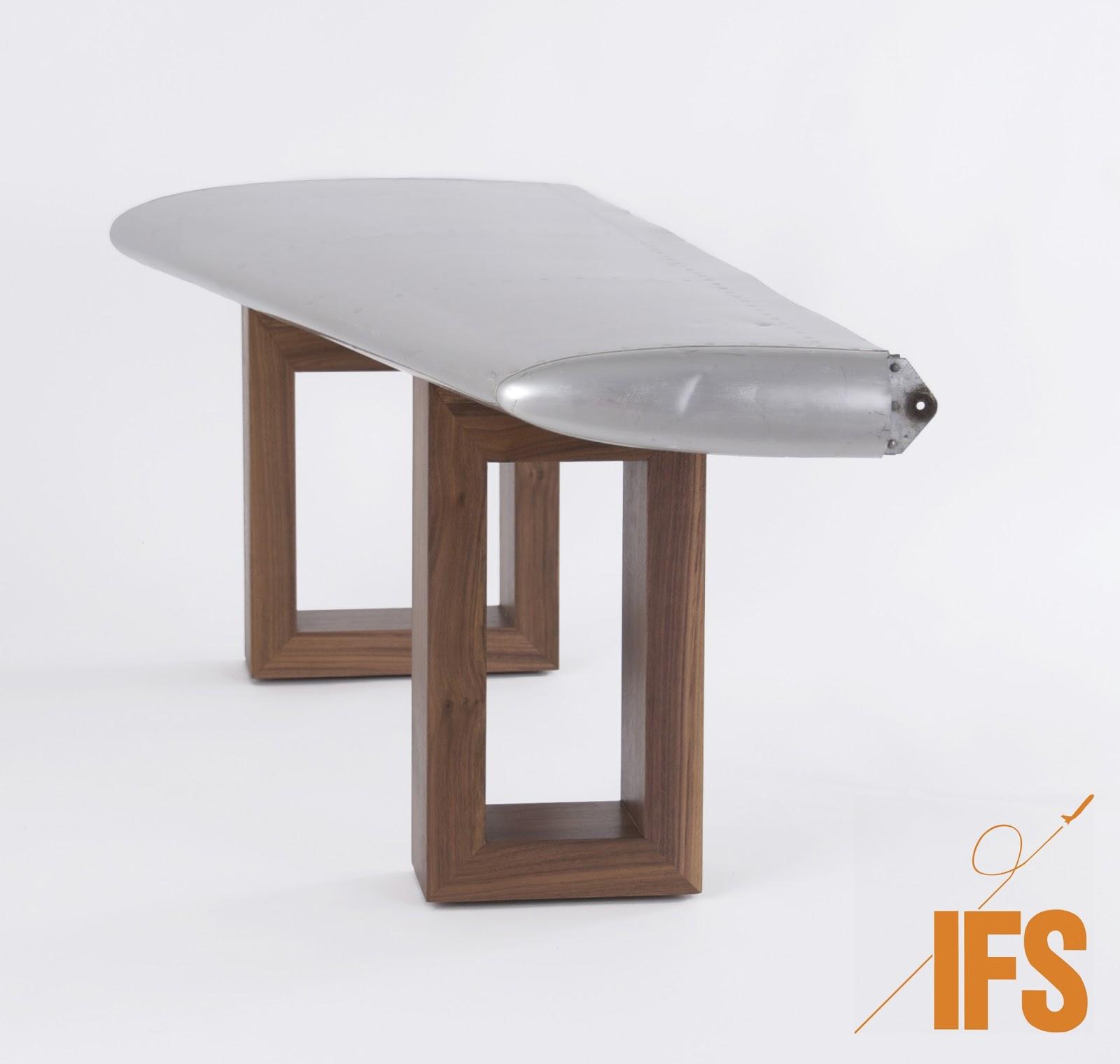 InterFlight Studio Aircraft Wing Coffee Table InterFlight Studio
