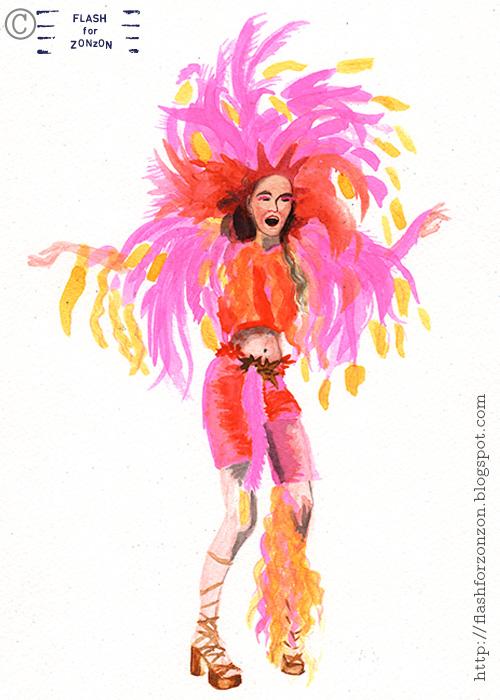 Helsinki Samba Carnaval 2015. Paradise Bird Dancer.