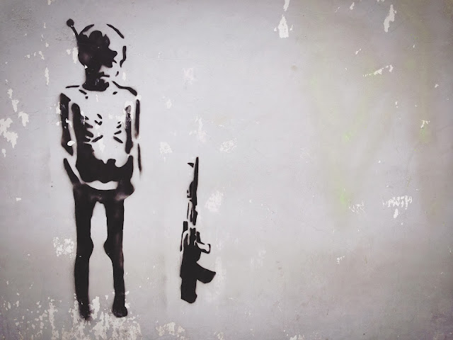 Street Art of Yogyakarta along Jalan Solo- Child Soldier