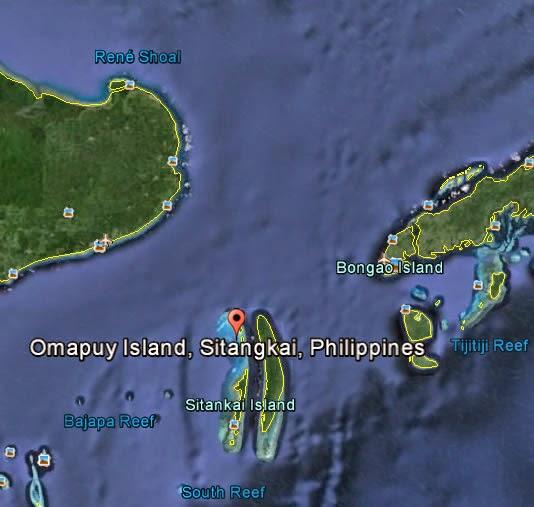 Omapuy Island, Sitangkai, Tawi-Tawi - Google Earth
