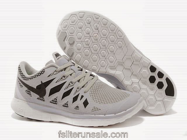 Nike Free 50  Womens Black Gray Running Shoes    6898