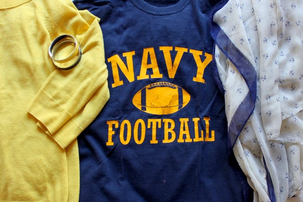 Navy gear...blue, gold & anchors, of course!