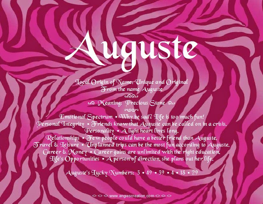 The meaning of the name -  Auguste