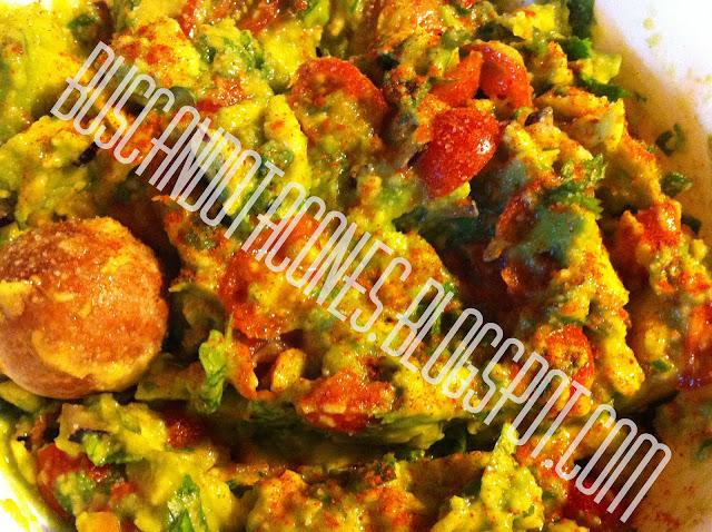 simple guacamole (wah-kah-mol-eh)