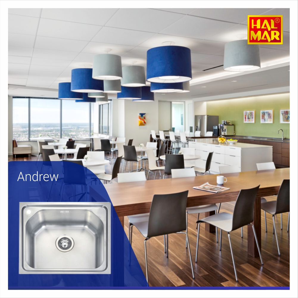 Office pantry modern dengan andrew kitchen sink by hal mar sanitary