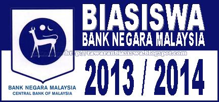 Tawaran Biasiswa Bank Negara Malaysia 2013 untuk Pra-Universiti, Ijazah Pertama, Master dan Ph.D