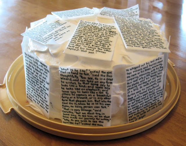Classic Book Pages Cake 5
