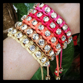 PULSEIRA MACRAM STRASS COLOR