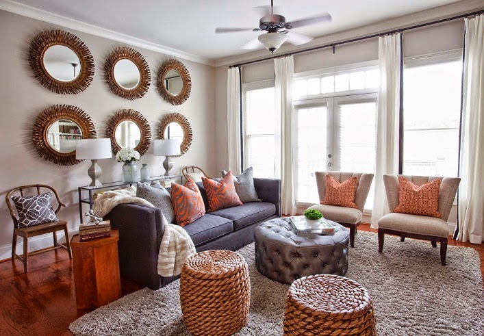 makeover miracle from neutral to chic and sophisticated living room