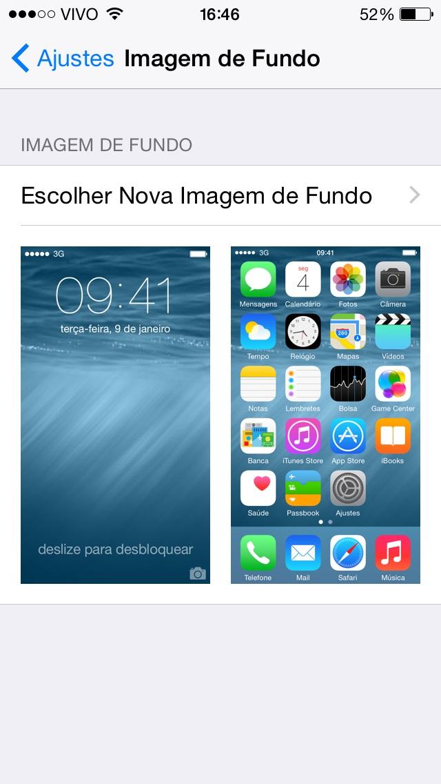 Imagem de Fundo - iOS 8