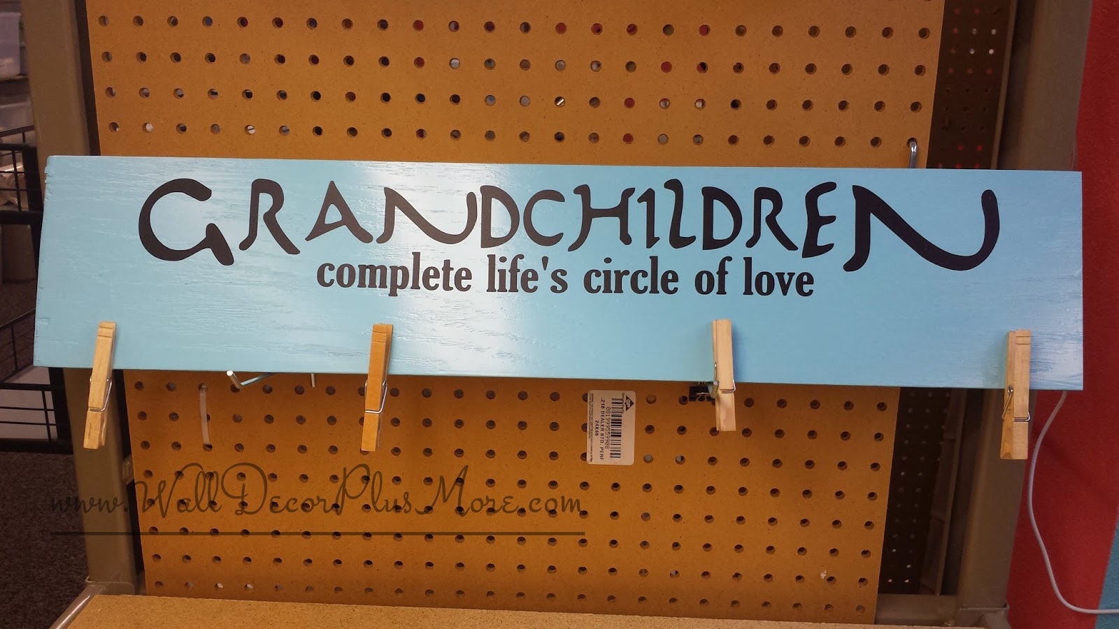 How to create a grandchildren brag board with clothespin clips wall decals amipublicfo Gallery