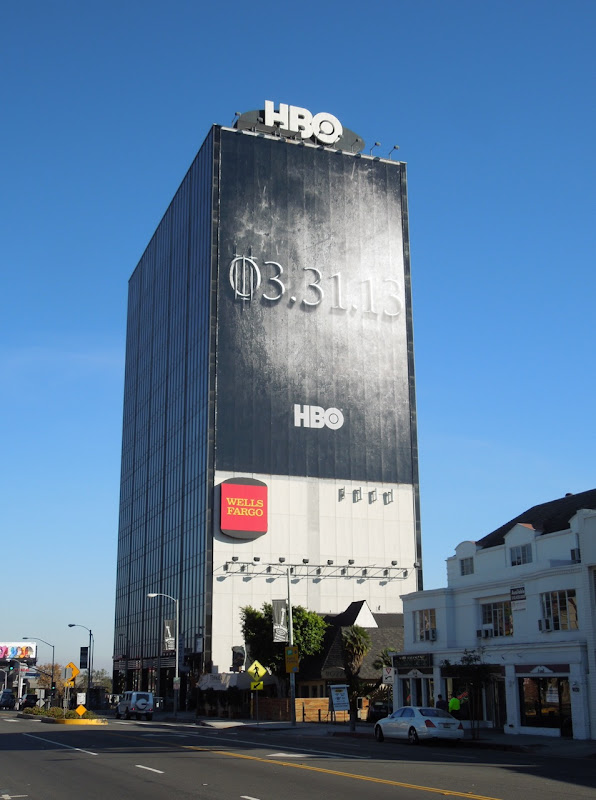 Giant Game of Thrones season 3 teaser billboard Sunset Strip