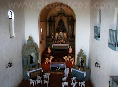 Detalhe dos altares da igreja Nossa Senhora do Amparo, em São Cristóvão - Sergipe - Por Tito Garcez