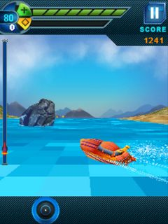 Jet boat 3D Java Touchscreen Mobile Game,java touchscreen mobile games,games for touchscreen mobiles
