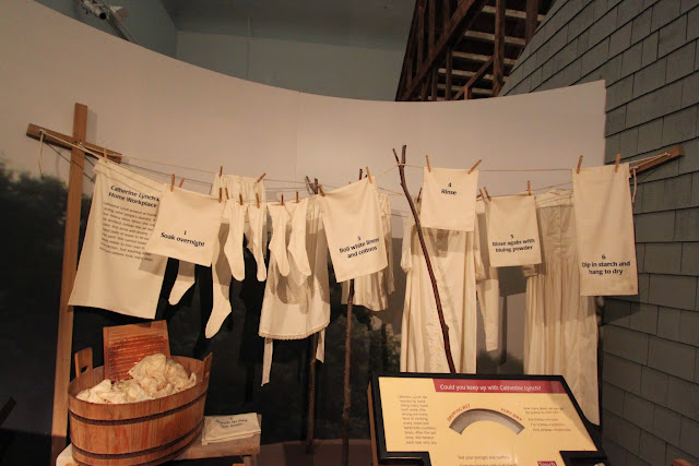 Catherine Lynch used 25 pails of water which weights 21 pounds to wash each load of laundy at National Museum of American History in Washington DC, USA