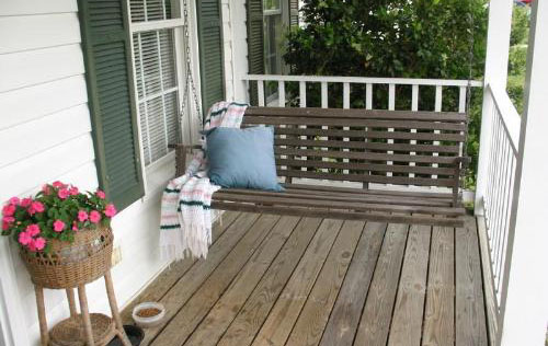 Another Trick To Consider When Building A Deck Or Porch In A Garden