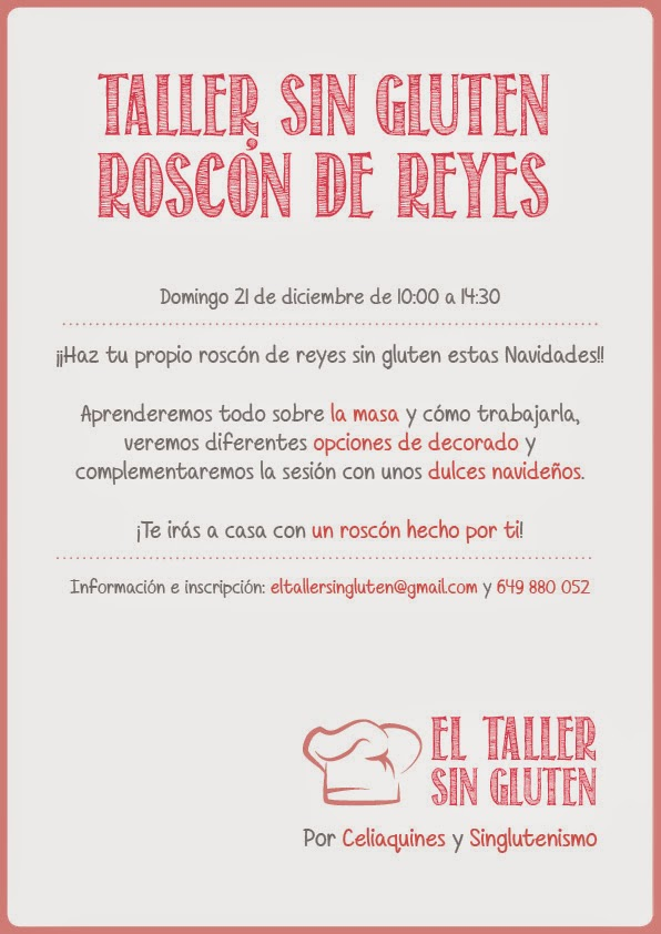 Próximo taller sin gluten en Callosa de Segura (Alicante)