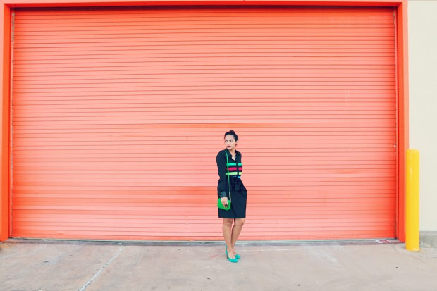 Custom Shirt, Rachel Roy Skirt, Dolce Vita Pumps, Michael Kors Bar, Altin Place Ring, Tanvii.com
