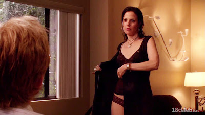 mary-louise parker removing her wet clothes getting naked