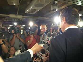 Governor Cuomo Meets Press after Subway Ride