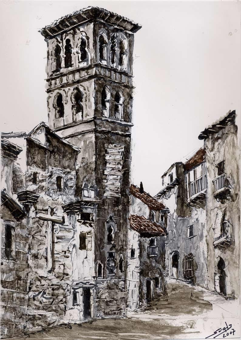 Vista de la iglesia de Santo Tomé de la ciudad de Toledo