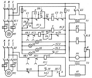 Принципиальная схема электрооборудования станции приготовления питьевой воды