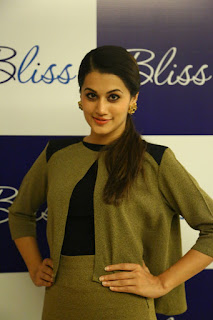 Taapsee Pannu looks so cute at Bliss Showroom Launc
