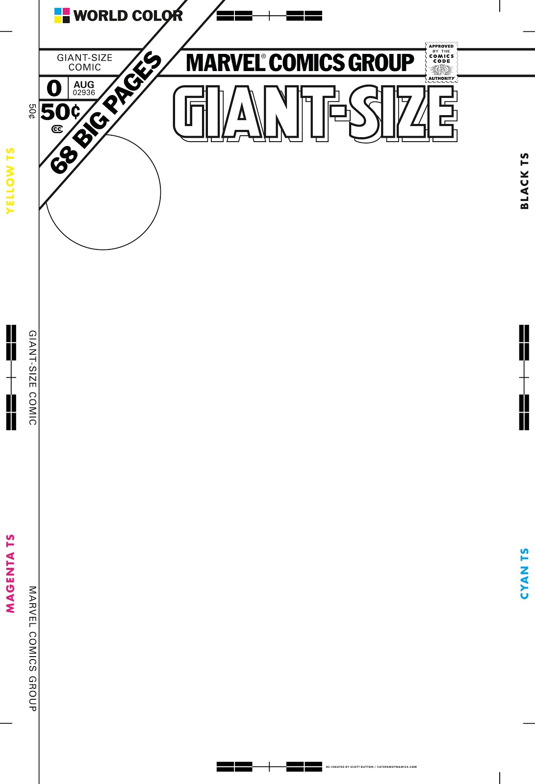 Marvel Comic Book Cover Template : Giant size marvel create your own cover