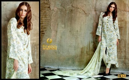 Printed Linen Firdous Collection