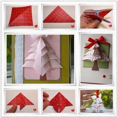 Arbol de navidad con papel de regalo origami - Arbol de navidad origami ...