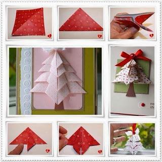 Arbol de Navidad con Papel de Regalo, Origami