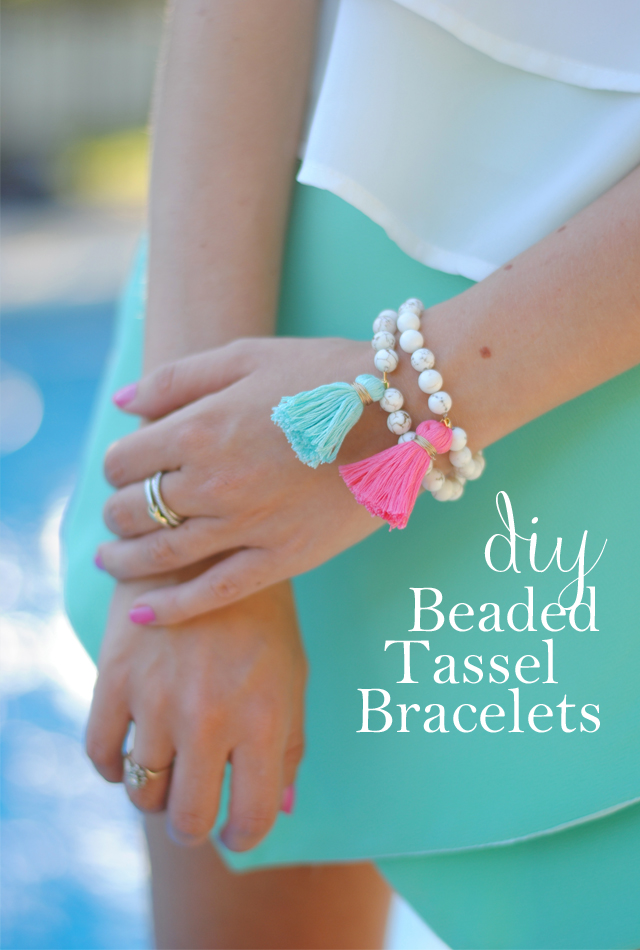 DIY beaded tassel bracelets by Southern Curls & Pearls