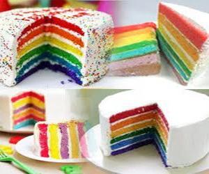 Rainbow Cake Yang Sudah jadi