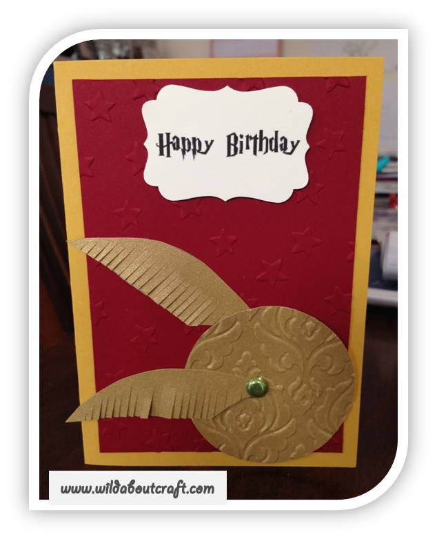 Wild about craft stampin up with jo rayner harry potter harry potter birthday card happy birthday to our favourite muggle bookmarktalkfo Images