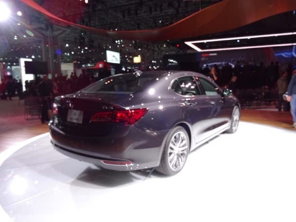 New York Show Acura TLX New 2015 performance back view