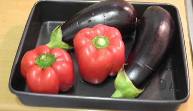 Баклажаны и перец запеченные в духовке рецепт с фото пошагово