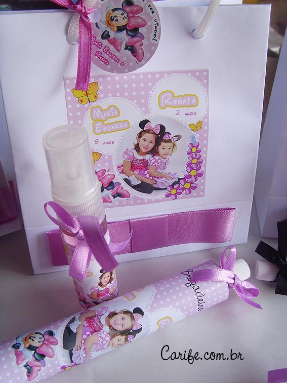 Festa Minnie jardim Lembrancinhas Personalizadas