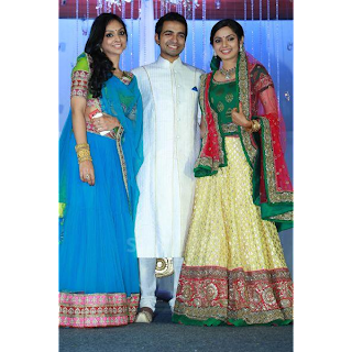stars at the reception of samvrutha sunil