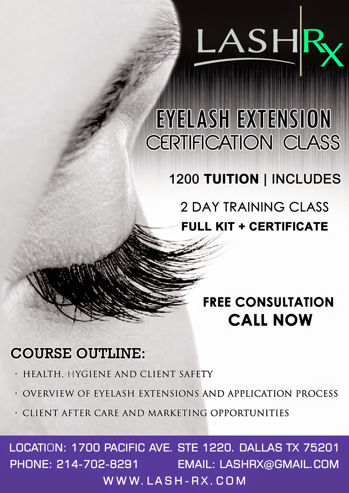 Lash Rx Interested In Eyelash Extensions Certification Training