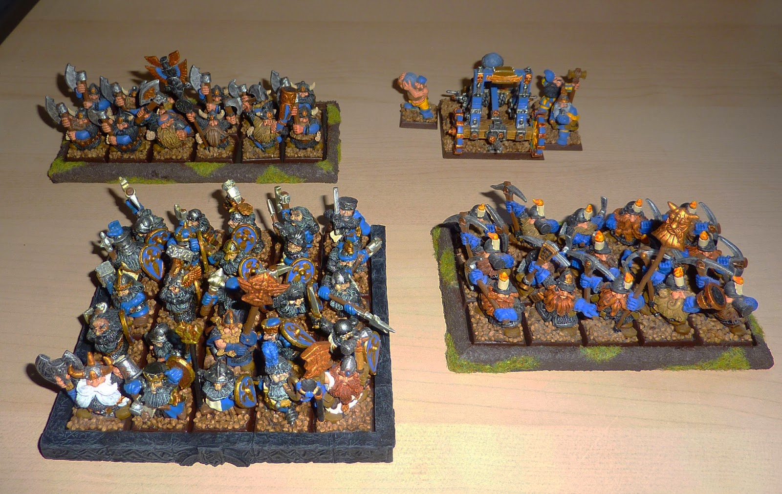 A Warhammer Fantasy Battle Report between Dwarfs and High Elves.