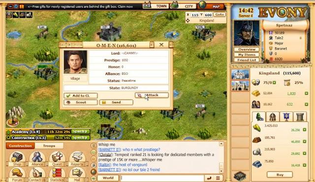 evony screenshot