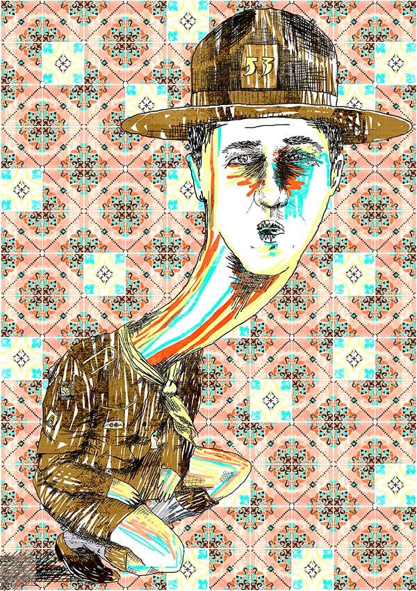 Ilustración, Edward Norton de Maite Diez