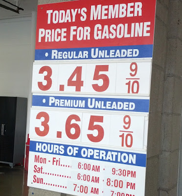 Costco gas for May 14, 2015 at South San Francisco, CA (airport location)