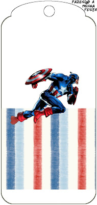 Para marcapáginas de Capitán América.